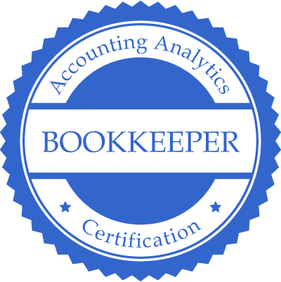 Accounting Analytics Bookkeeper Certification